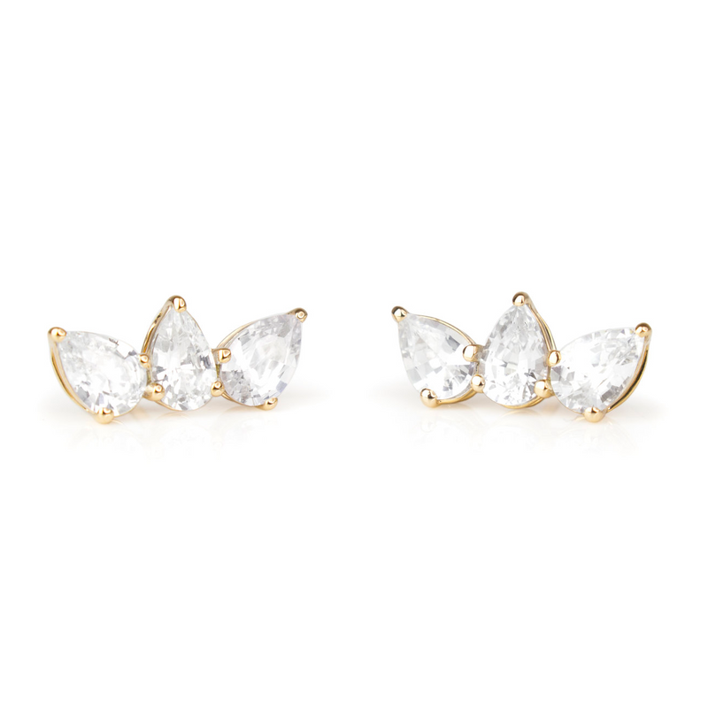 Olympia Studs - Yellow Gold