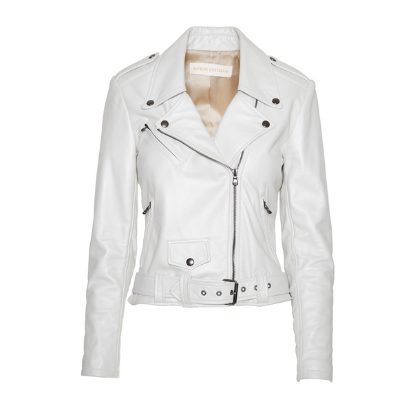 The Moto Jacket - Pearl