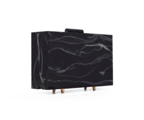 Black Marble Clutch