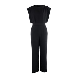 Ando Black Silk Jumpsuit
