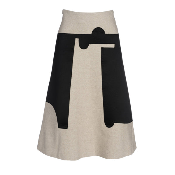 Asymmetrical Print Chillida Skirt II by GAYEON LEE