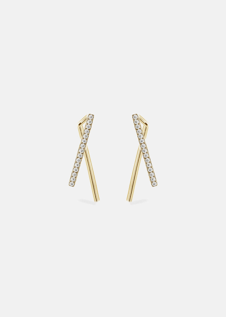 Diamond Thread Earings