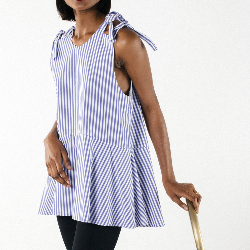 Blue Stripe Beatrice Blouse