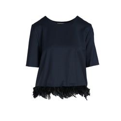 Feather Hem Blouse by MAISON PERE