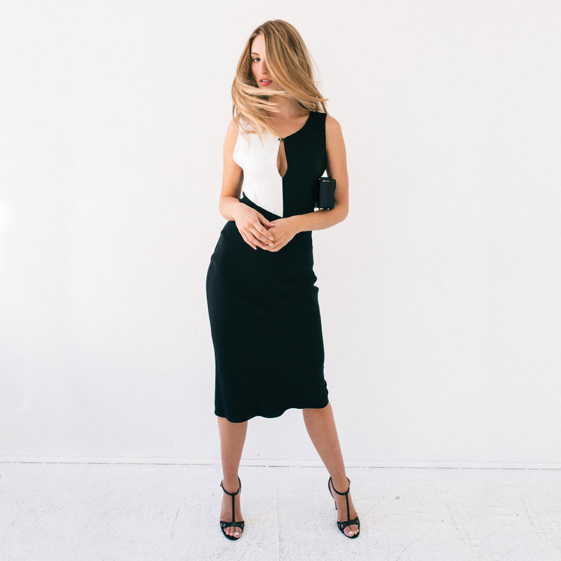 Angular Black & White Ibis Dress