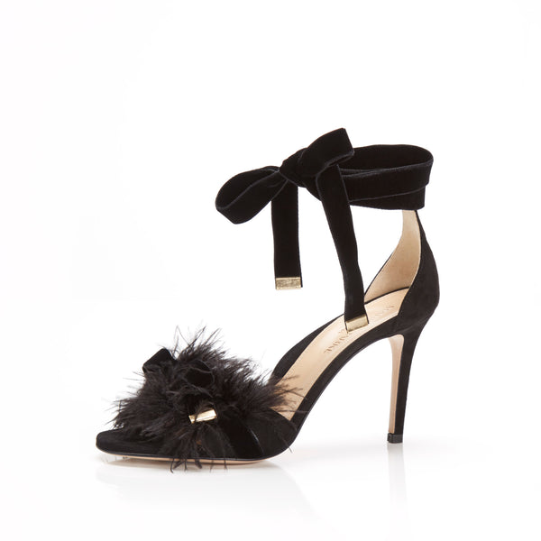 Lainey Black Sandal by MARION PARKE