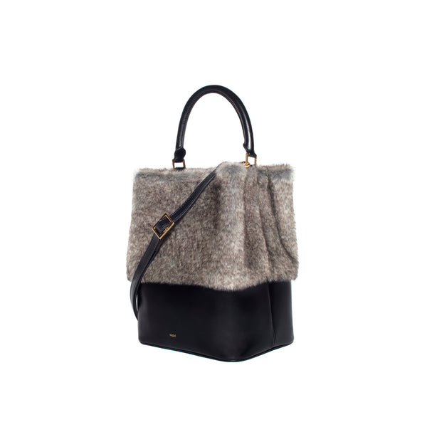 Grey Mini Elfie Bag by VASIC