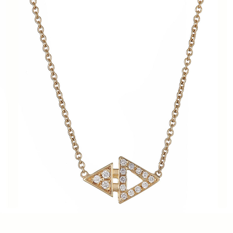 Mini Triangle Necklace Yellow Gold by ILANA ARIEL