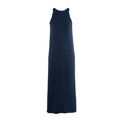 Navy Silk Soriano Dress