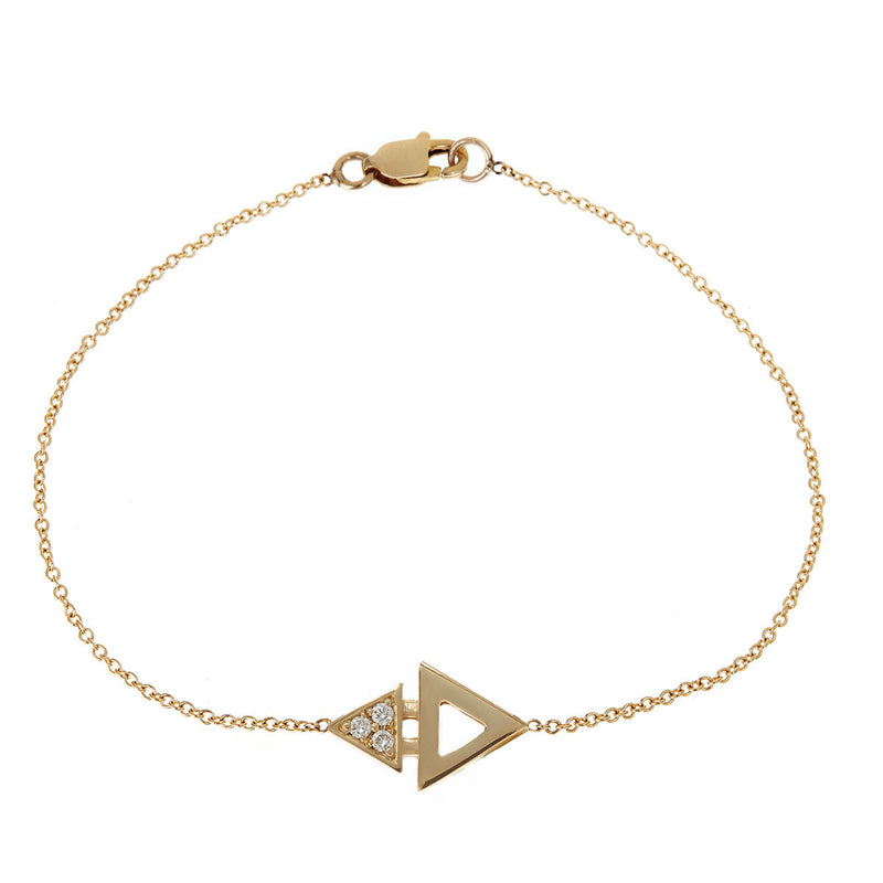 Mini Triangle Bracelet Yellow Gold by ILANA ARIEL