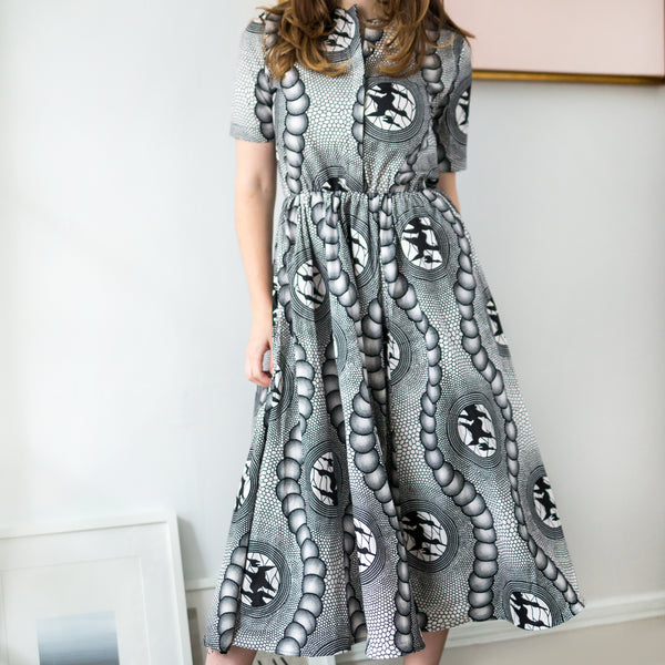 Helga Dress - Birds Print