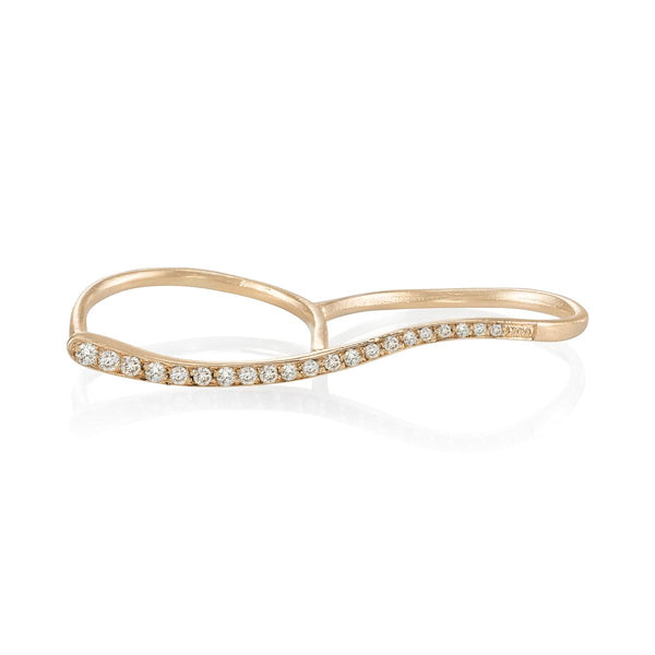 Curve Double Finger Ring