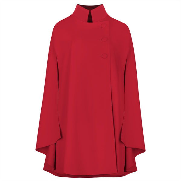 The Rachel Cape - Red