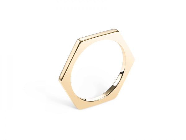 Hex Band Ring