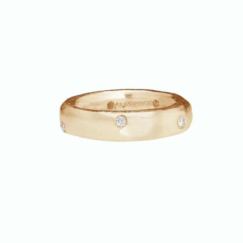 Textured Gold and Diamond Band