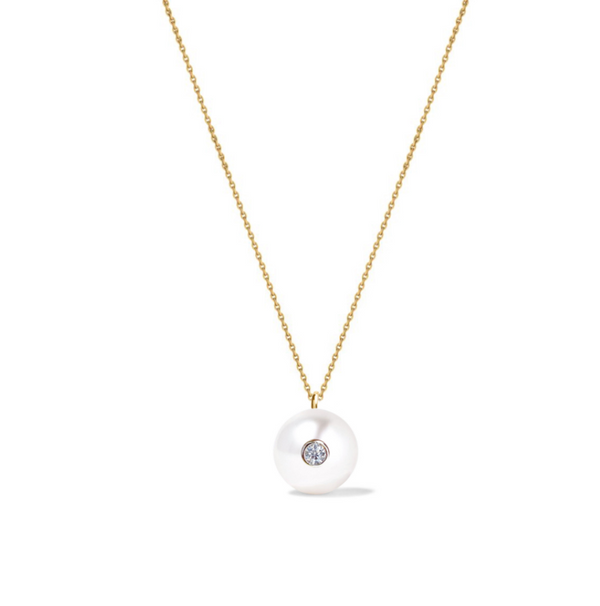 Diamond Oasis Pearl Necklace
