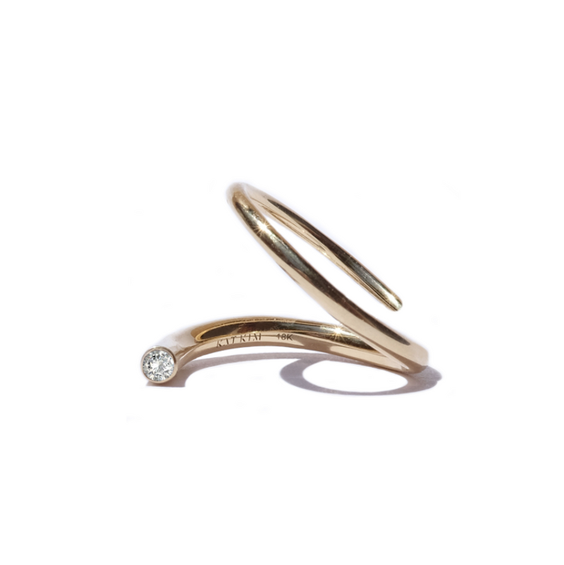 Crescendo Pin Ring - Yellow Gold