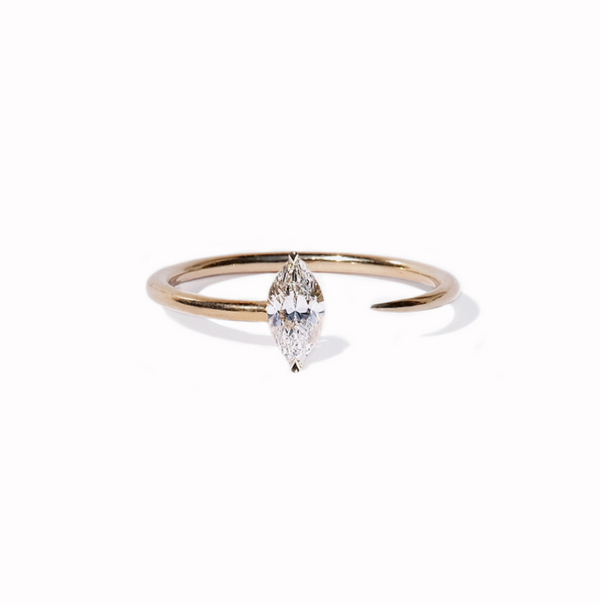 Marquise Crescendo Ring in Yellow Gold