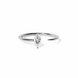 Marquise Crescendo Ring - White Gold