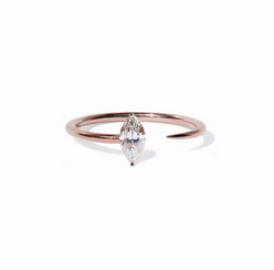 Marquise Crescendo Ring - Rose Gold
