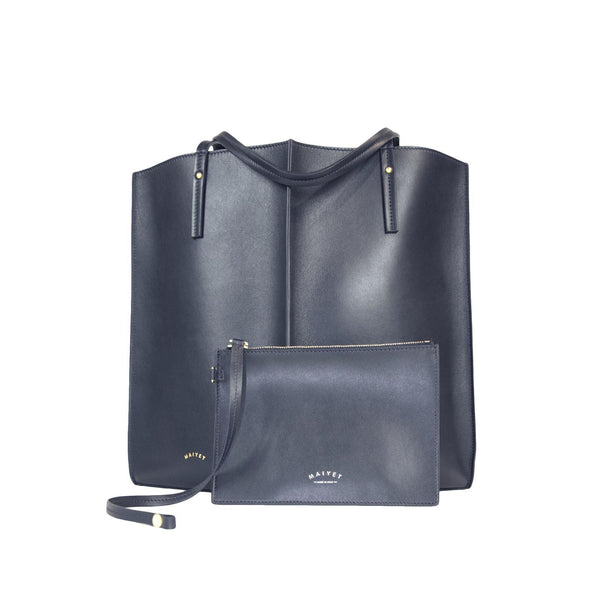 Sia Medium Shopper, Navy, by Maiyet