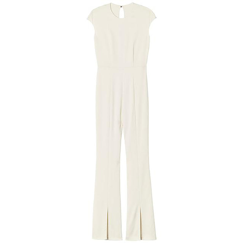 Ivory Crewneck Jumpsuit by STEPHANIE RADIvory Crewneck Jumpsuit by STEPHANIE RAD