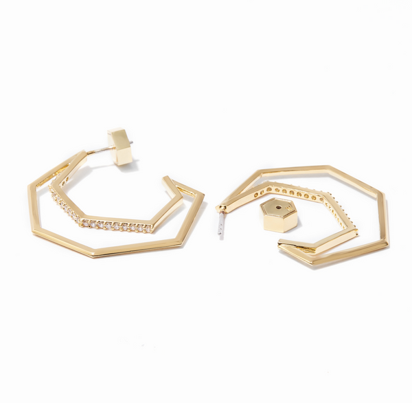 The Aris Pavé Hoop Earrings