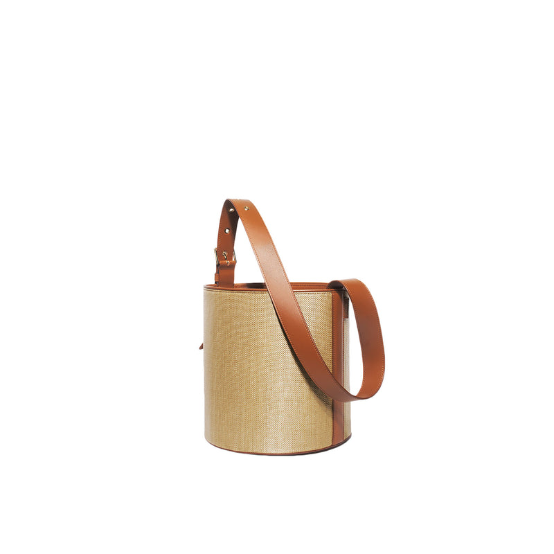 Jane Camel Bucket Bag by VASIC