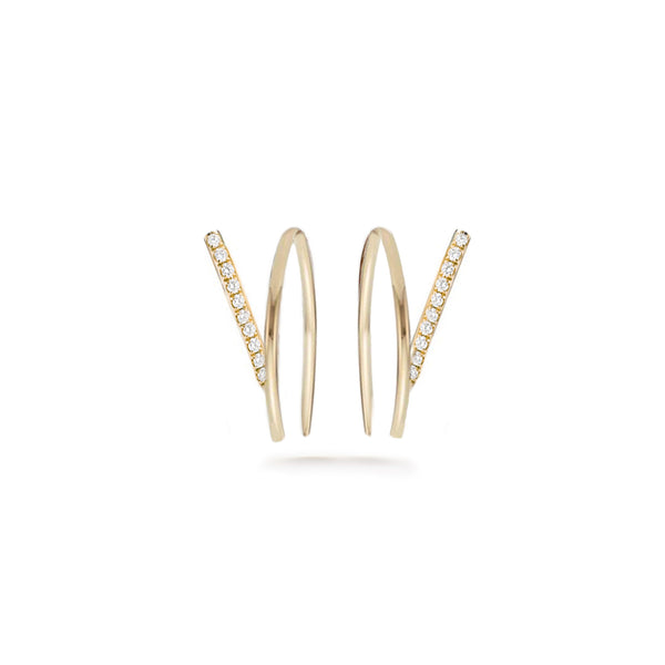 Wishbone Pavé Earring