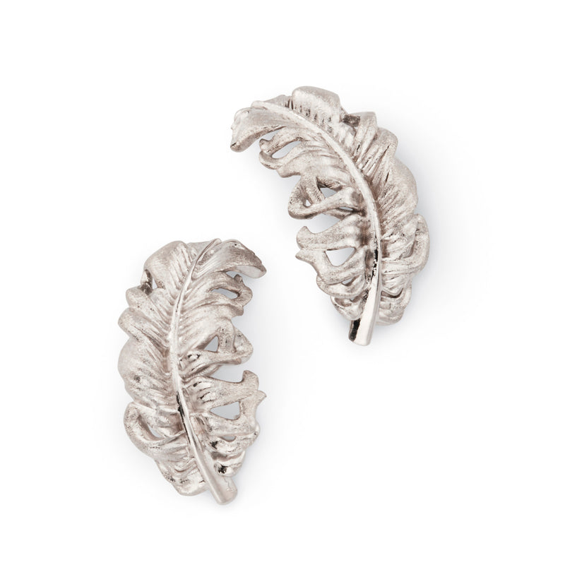 Small Feather Earrings by ADAM FOSTER
