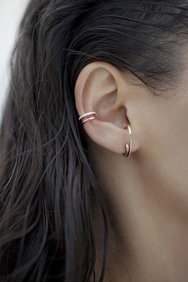 The Espionne Earrings - Solid Rose Gold