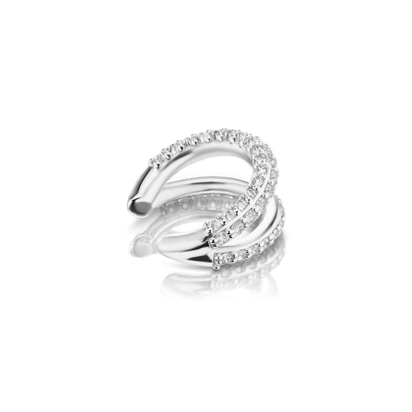 Inamorata II Ear Cuff - White Gold