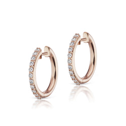 The Pavé Espionne Hoops - 13mm