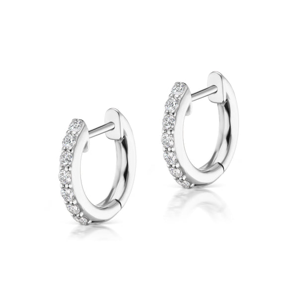 The Pavé Espionne Hoop - White Gold - 8mm