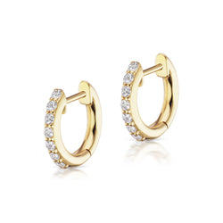 The Pavé Espionne Hoop - Yellow Gold - 8mm