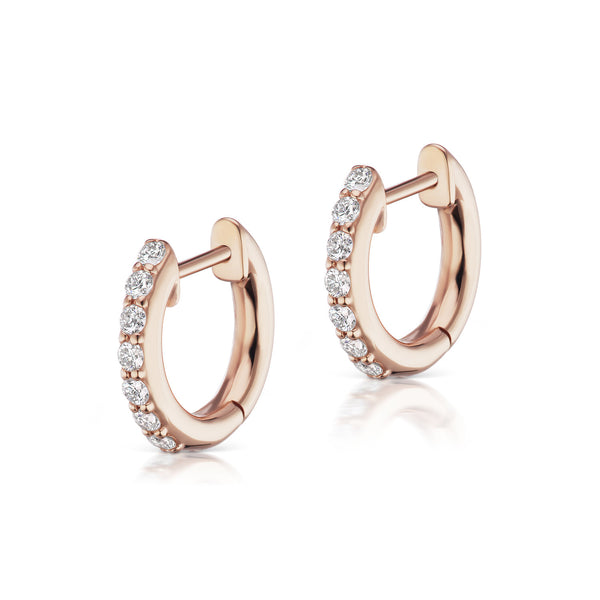The Pavé Espionne Hoop - Rose Gold - 8mm