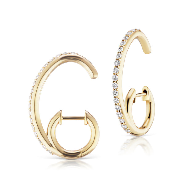 The Espionne Earrings - Yellow Gold