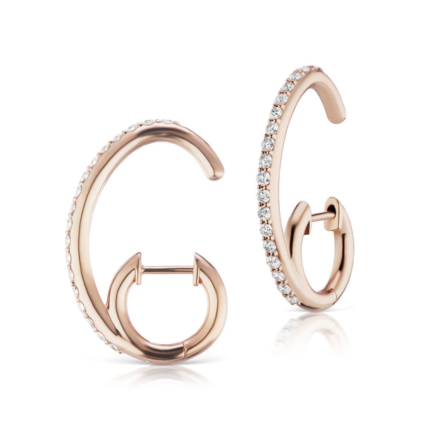 The Espionne Earrings - Rose Gold
