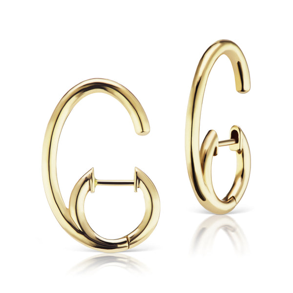 The Espionne Earrings - Solid Yellow Gold