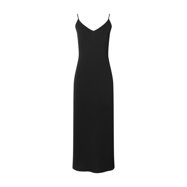 Black V-Neck Slip Dress by ATEA OCEANIE