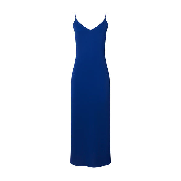 Blue V-Neck Slip Dress by ATEA OCEANIE