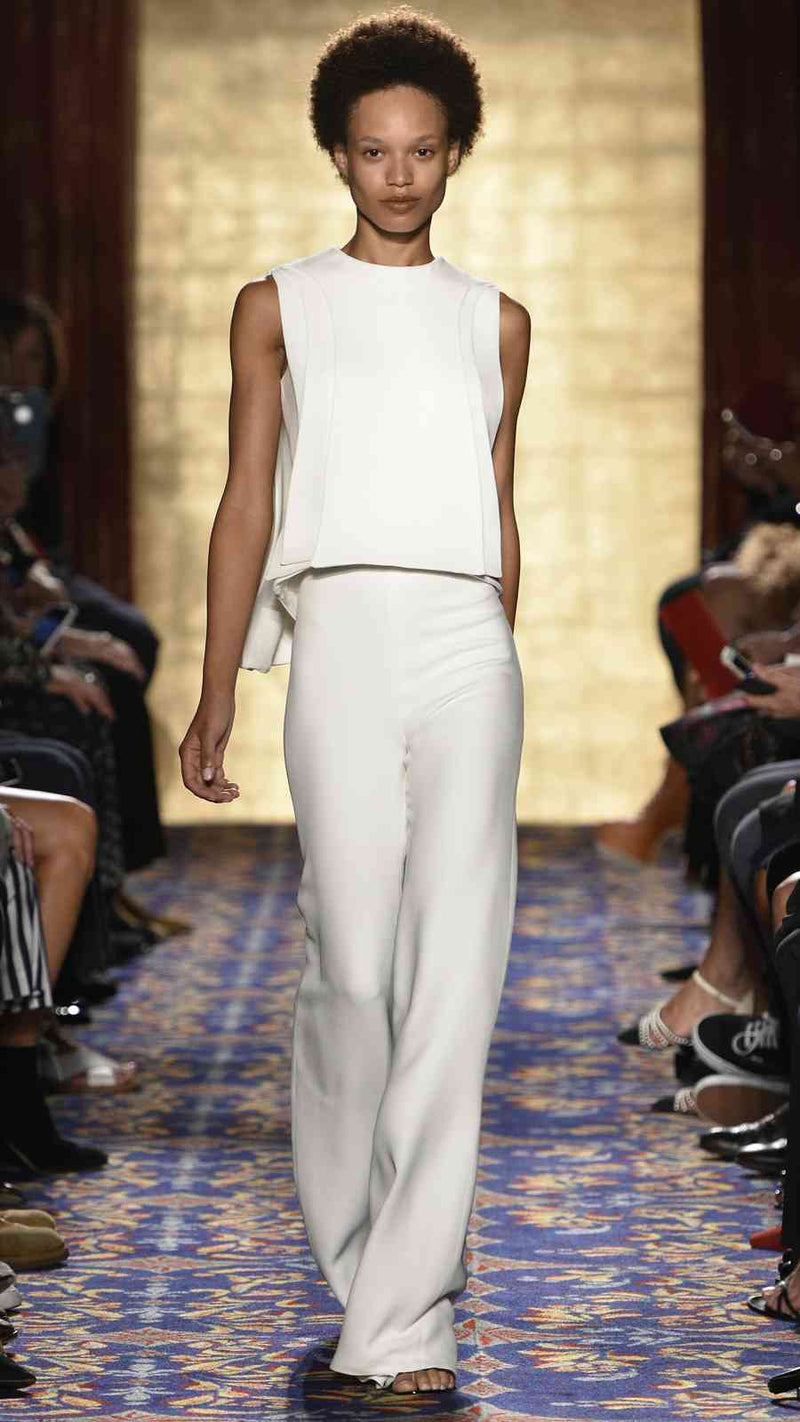 Ivory Classic Trouser by BRANDON MAXWELLIvory Classic Trouser by BRANDON MAXWELL