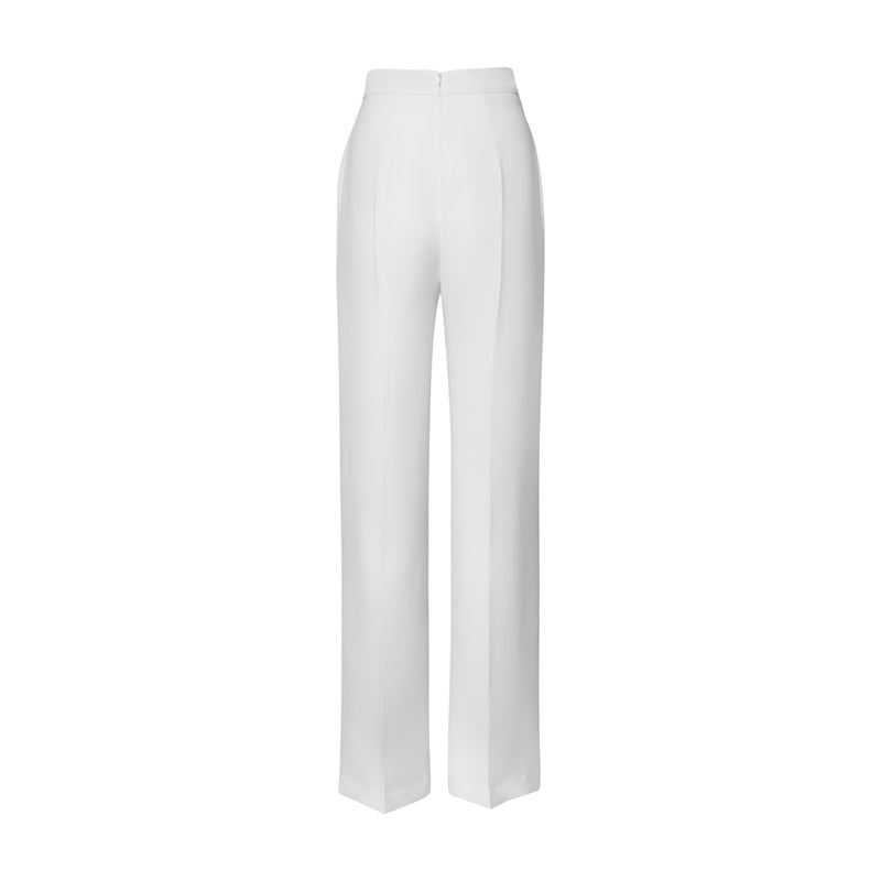 Ivory Classic Trouser by BRANDON MAXWELL