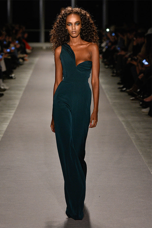 One Shoulder Jumpsuit by BRANDON MAXWELL
