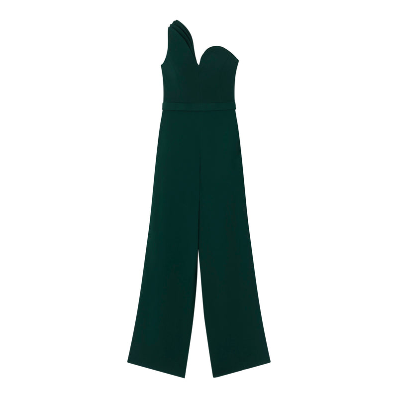 One-Shoulder Jumpsuit by BRANDON MAXWELL