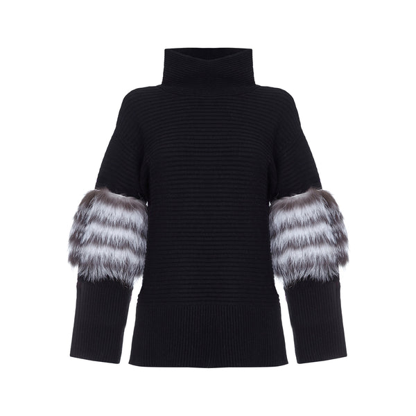 Oversized Ribbed Sweater by IZAAK AZANEI