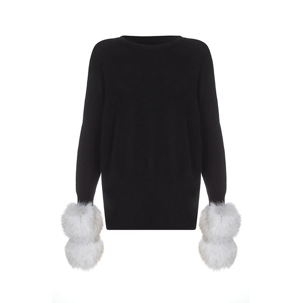 The Sweater with Fur Cuffs by IZAAK AZANEI
