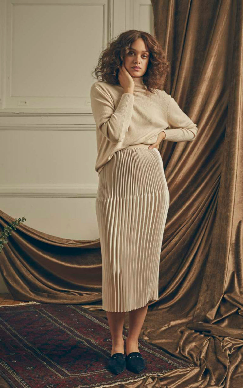 Duel Pleat Skirt by KALLMEYER