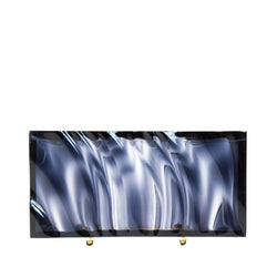 Black Clear Amnis Clutch by L'AFSHAR