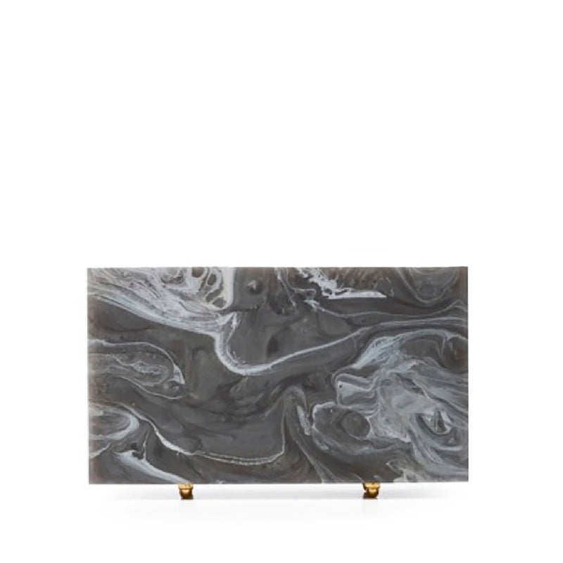 Grey Marble Clutch by L'AFSHAR